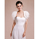 cheap Wedding Wraps-Sleeveless Satin / Feather / Fur Wedding / Party Evening Wedding  Wraps With Shrugs