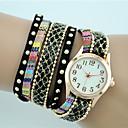 baratos Relógios da Moda-Mulheres Bracele Relógio Venda imperdível Tecido Banda Boêmio / Fashion Preta / Branco / Azul / Um ano / Tianqiu 377