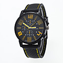 baratos Relógios da Moda-Homens Relógio de Pulso Relógio Casual Silicone Banda Amuleto / Fashion Preta / Tianqiu 377