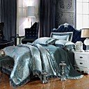 cheap Curtains Drapes-Duvet Cover Sets Luxury Silk / Cotton Blend Jacquard 4 Piece