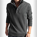 cheap Wall Stickers-Men's Weekend Long Sleeve Pullover - Solid Colored Stand