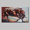 abordables Peintures d'Animaux-Peinture à l'huile Hang-peint Peint à la main - Animaux Moderne Avec Cadre