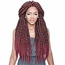 baratos Tranças de Cabelo-Cabelo para Trançar Clássico Tranças torção / Extensões de Cabelo Natural 1pc / pacote, 12 raízes / pacote Tranças de cabelo Diário