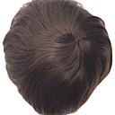 halpa Synteettiset peruukit ilmanmyssyä-Miesten Aidot hiukset Tupeet Suora Classic 100% käsinsidottu Korkealaatuinen Päivittäin