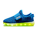 cheap Girls' Shoes-Boys' / Girls' Shoes Fabric Spring Comfort / Light Up Shoes Sneakers Magic Tape / LED for Red / Green / Blue
