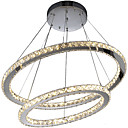 cheap Wall Sconces-Modern Crystal Chandeliers Pendant Lighting Lamp with 2Ring D6080CM 60W CE FCC ROHS