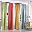 cheap Blackout Curtains-Grommet Top Double Pleat Pencil Pleat Two Panels Curtain Modern Designer, Jacquard Solid Living Room Polyester Material Blackout Curtains