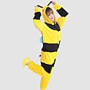 cheap Kigurumi Pajamas-Adults' Kigurumi Pajamas Bee Onesie Pajamas Costume Coral fleece Yellow Cosplay For Animal Sleepwear Cartoon Halloween Festival / Holiday