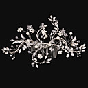 cheap Party Headpieces-Imitation Pearl / Rhinestone / Alloy Hair Combs / Flowers with 1 Wedding / Special Occasion / Birthday Headpiece