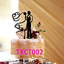 billige Kakedekorasjoner-Kakepynt Klassisk Tema Klassisk Par Akryl Bryllup med 1 OPP