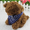 preiswerte Hundekleidung-Katze Hund Halsband - Bandana Modisch Blume Stoff Schwarz Purpur Rot Blau Rosa