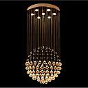 ราคาถูก ไฟเพดาน-7-Light ไฟจี้ ดาวน์ไลท์ ชุบโลหะด้วยไฟฟ้า โลหะ คริสตัล, LED 110-120โวลล์ / 220-240โวลต์ วอมไวท์ หลอดไฟรวมอยู่ด้วย / GU10