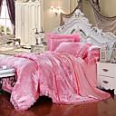 olcso Solid paplanhuzatok-párnahuzat készlet luxus selyem / pamut keverék jacquard 4 darab ágynemű készletek />800 király
