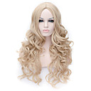 cheap Synthetic Capless Wigs-Synthetic Wig Women's Wavy Blonde Synthetic Hair Blonde Wig Long Capless Blonde