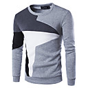 cheap Car Headlights-Men's Active Long Sleeve Sweatshirt - Color Block, Patchwork Round Neck