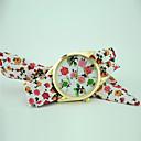baratos Relógios da Moda-Mulheres Bracele Relógio Relógio Casual Tecido Banda Flor / Fashion Azul / Vermelho / Roxa / Um ano / Tianqiu 377