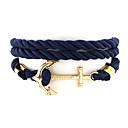 billige Herre Armbånd-Herre Dame Charm-armbånd - Unikt design, Mode Armbånd Sort / Mørkeblå / Rød Til Bryllup Fest Daglig
