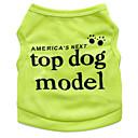 preiswerte Hundekleidung-Katze Hund T-shirt Hundekleidung Blumen / Pflanzen Rose Grün Blau Rosa Terylen Kostüm Für Haustiere Herrn Damen Modisch