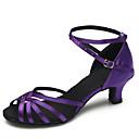 povoljno Cipele za latino plesove-Žene Plesne cipele Saten Cipele za latino plesove / Moderna obuća Kopča Štikle Stiletto potpetica Moguće personalizirati purpurna boja / Unutrašnji / Vježbanje