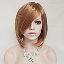 cheap Synthetic Capless Wigs-Synthetic Wig Straight Blonde With Bangs Synthetic Hair Blonde Wig Women's Short Capless