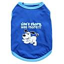 preiswerte Hundekleidung-Katze Hund T-shirt Hundekleidung Tier Blau Baumwolle Kostüm Für Haustiere Herrn Damen Modisch