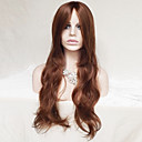 cheap Synthetic Capless Wigs-Synthetic Wig Wavy / Natural Wave Asymmetrical Haircut / With Bangs Synthetic Hair Natural Hairline Brown Wig Women's Long Capless