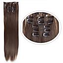 preiswerte Synthetische Haarverlängerungen-Haarteil Glatt Klassisch Synthetische Haare Haar-Verlängerung Mit Clip Alltag