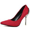 hesapli Kadın Düğün Ayakkabıları-Kadın's Ayakkabı Süet Bahar / Sonbahar Topuklular Stiletto Topuk Düğün için Pembe / Altın / Haki