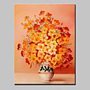 preiswerte Florale/Botansiche Gemälde-Hang-Ölgemälde Handgemalte - Blumenmuster / Botanisch Modern Mit der Fassung