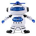 hesapli Sihirbazlık Hileleri-Robot LED Aydınlatma Müzik Sevimli şan Dans Yürüyüş 360° Dönüş Çok Fonksiyonlu ABS Genç Erkek Hediye 1pcs
