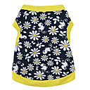 cheap Dog Clothes-Cat Dog Shirt / T-Shirt Dog Clothes Floral / Botanical Black / Yellow Cotton Costume For Summer Men's Women's Fashion