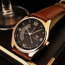 cheap Fashion Watches-YAZOLE Men's Wrist Watch Quartz Leather Black / Brown Casual Watch Analog Charm Classic Dress Watch - Black Brown One Year Battery Life / SSUO 377