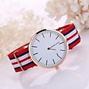 preiswerte Kleideruhr-Herrn Armbanduhr Armbanduhren für den Alltag Stoff Band Charme / Modisch Schwarz / Weiß / Blau