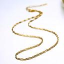preiswerte Kappenlos-Ketten vergoldet damas Modisch Niedlich Golden Modische Halsketten Schmuck Für Party Alltag Normal Arbeit