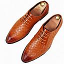 رخيصةأون أحذية أوكسفورد للرجال-رجالي أحذية رسمية PU الربيع / الخريف بريطاني أوكسفورد أسود / أصفر / أحمر / الحفلات و المساء / الحفلات و المساء
