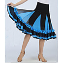 cheap Kids' Dancewear-Ballroom Dance Bottoms Women's Performance Spandex Appliques / Draping Sleeveless Dropped Skirt