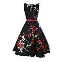 olcso Hátitáskák-Női Vintage Nadrág - Virágos Fekete, Nyomtatott Fekete / Szabadság