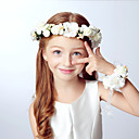 billige Vielsesdekorasjoner-guttens jenter hår tilbehør, alle årstider akryl pannebånd - khaki lilla beige