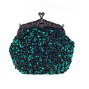 cheap Human Hair Wigs-Women's Bags Other Leather Type / Polyester Evening Bag / Cover Sequin Metallic Wine / Dark Gray / Champagne