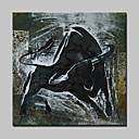 tanie Obrazy: motyw zwierzęcy-Hang-Malowane obraz olejny Ręcznie malowane - Zwierzęta Nowoczesny Z ramą / Rozciągnięte płótno