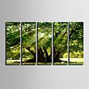 baratos Impressões-Paisagem Estilo Europeu, 5 Painéis Tela de pintura Vertical Estampado Decoração de Parede Decoração para casa