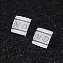 cheap Cake Toppers-Zinc Alloy Cufflinks & Tie Clips Groom Groomsman Wedding Anniversary Birthday