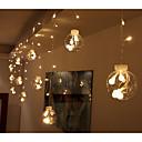 billige Hårtilbehør-3M Lysslynger 12 LED 3528 SMD Varm hvit / RGB / Hvit Dekorativ / Koblingsbar / Jul 220 V / IP44