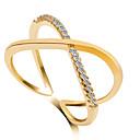 זול טבעות-בגדי ריקוד נשים Crossover טבעת הטבעת / טבעת הצהרה - 6 / 7 / 8 כסף / מוזהב / Gold / ורוד עבור חתונה / Party