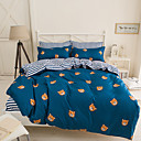 cheap Cartoon Duvet Covers-Duvet Cover Sets Geometric 4 Piece Polyester Reactive Print Polyester 4pcs (1 Duvet Cover, 1 Flat Sheet, 2 Shams)