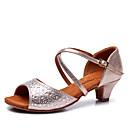 preiswerte Netze & Halter-Schuhe für den lateinamerikanischen Tanz Satin Sandalen Strass / Schnalle Kubanischer Absatz Keine Maßfertigung möglich Tanzschuhe