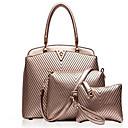 preiswerte Taschensets-Damen Taschen PU Umhängetasche 3 Stück Geldbörse Set Schwarz / Dunkelblau / Golden