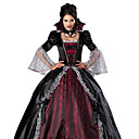 cheap Men's & Women's Halloween Costumes-Vampire Cosplay Costume Party Costume Women's Christmas Halloween Carnival Festival / Holiday Terylene Outfits Red / black Vintage