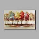 billige Blomster-/botaniske malerier-Hang malte oljemaleri Håndmalte - Abstrakt Landskap Moderne Lerret