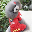 voordelige Hondenkleding-Hond Jassen Hondenkleding Effen Letter & Nummer Zwart Rood Katoen Kostuum Voor huisdieren Heren Dames Casual/Dagelijks